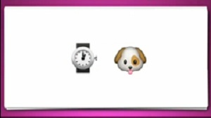Guess The Emoji     Clock and DogGuess The Emoji Watch And Clock