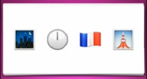 Guess The Emoji     Night Clock French Flag and Tower AnswersNight Clock Flag Tower Emoji
