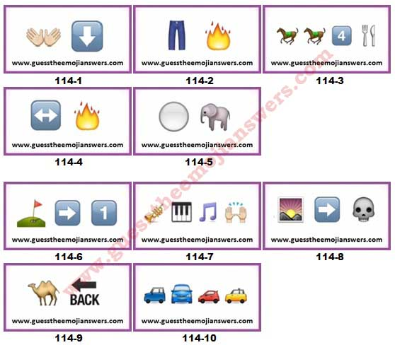 Guess The Emoji Level 114 Answers 1 10