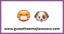 Guess the emoji dog and red thing