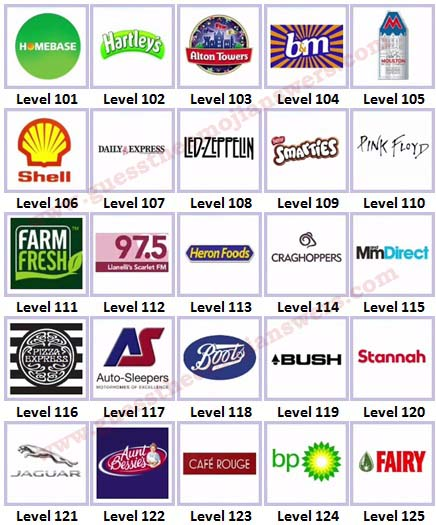 Logo Quiz Level 26 Answers Logo Quiz uk Brands Level
