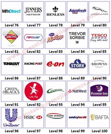 Logo Quiz Uk Brands Level 76 100 Answers